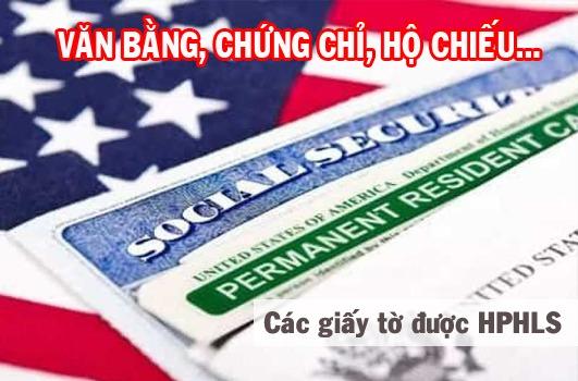 các giấy tờ được miễn hợp pháp hóa lãnh sự