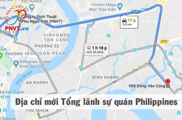 Địa chỉ mới Tổng lãnh sự quán Philippines tại TPHCM