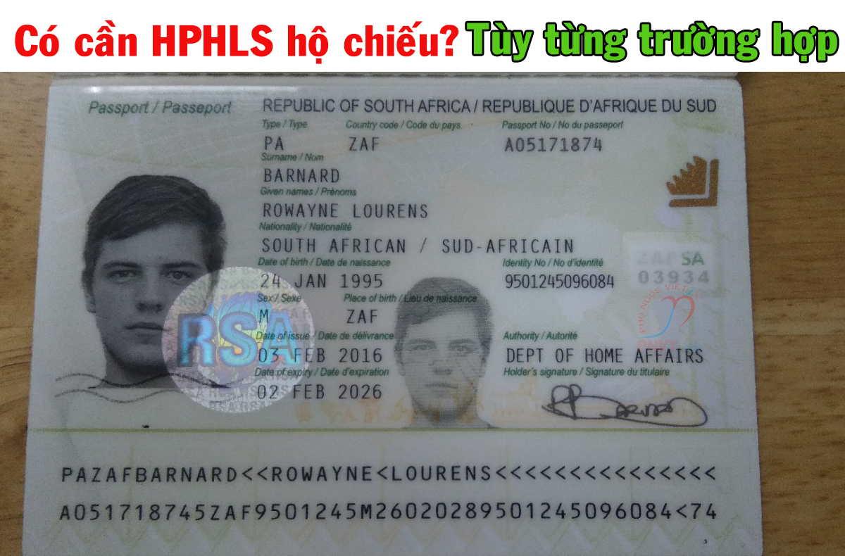 hộ chiếu có cần hợp pháp hóa lãnh sự