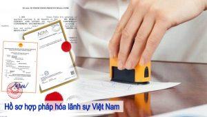 hồ sơ hợp pháp hóa lãnh sự việt nam